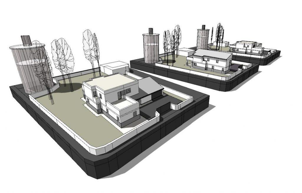 Ejemplo de propuestas alternativas para un chalet unifamiliar en Salamanca del arquitecto Román Andrés