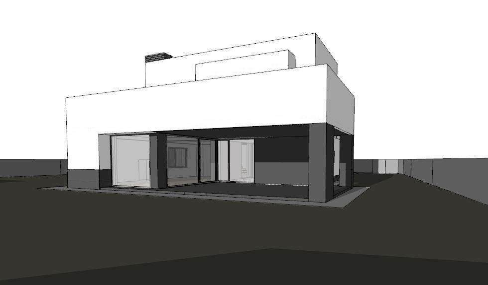 Ejmplo de solución final para una vivienda en Salamanca del arquitecto Román Andrés