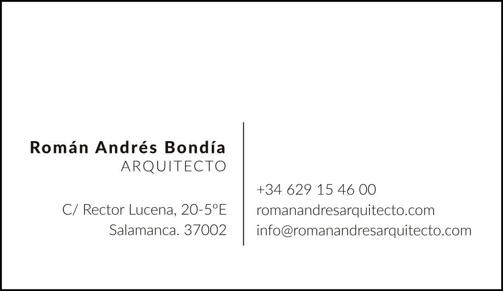 Datos de contacto de Román Andrés Bondía Arquitecto en Salamanca
